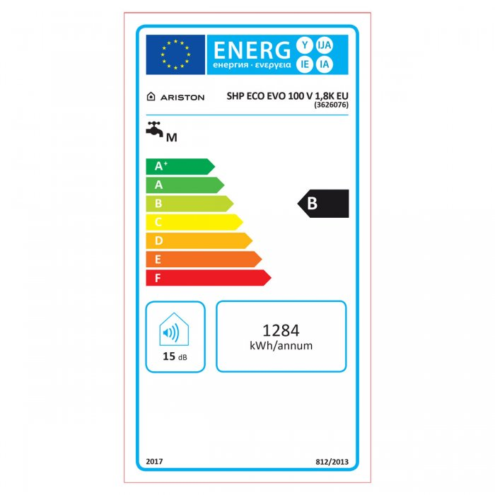 Вертикален бойлер Ariston SHP ECO EVO 100 V 1.8K EU